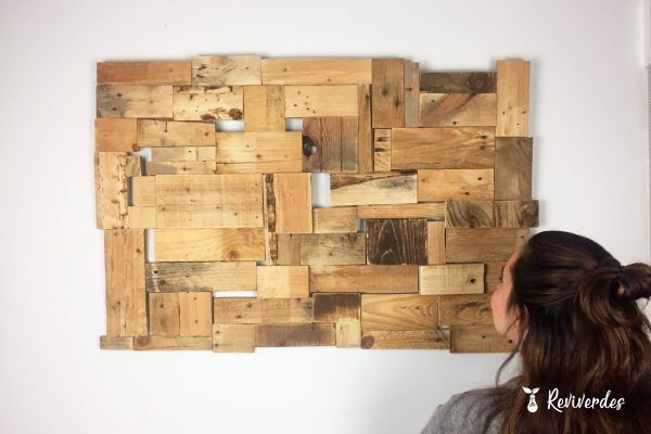 Box of pieces of reclaimed wood scraps