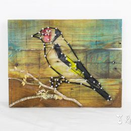 front photo of goldfinch wood frame