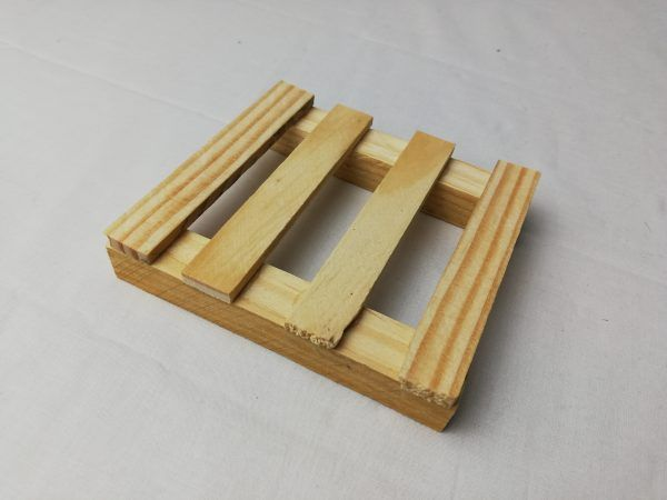 Photo of the profile wooden soap dish