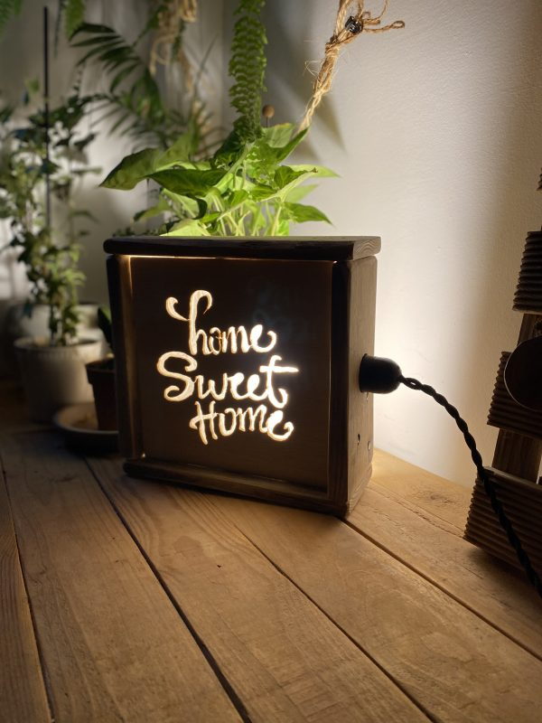 Home Sweet Home wooden lamp